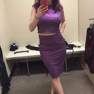 Bisou Bisou crop top & midi skirt set